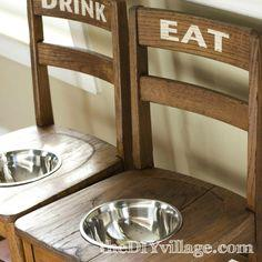 DIY Project: DIY Dog Bowl Chairs {Elevated Feeding Station}