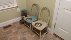 Dog bowl chair tutorial