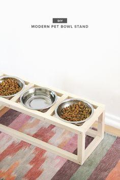 diy modern pet bowl stand