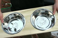 Easily create a DIY dog dish stand for your pet to use during