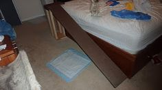 How to build a dog ramp to the bed for your puppy or small dog for cheap - Step by Step instructions