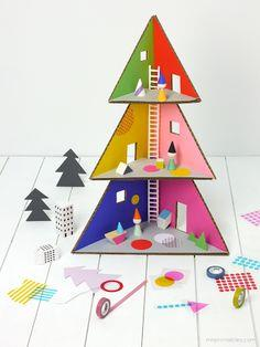 Christmas tree doll house