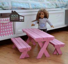 Doll X Picnic Table and Bench Set