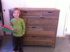 Reclaimed 6 drawer Dresser tutorial