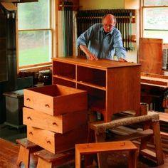 free woodworking plan for classic Shaker chest of drawers
