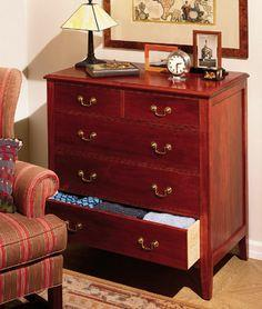 How To Build A Classic 5-Drawer Cherry Dresser