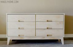 Free DIY Furniture Plans: How to Build a Steppe 6 Drawer Dresser