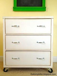 Three Drawer Rolling Dresser tutorial