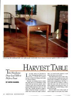 Harvest Table plans and tutorial
