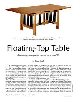 Floating-Top Table