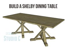 A Gorgeous Dining Table to Build Using the Shelby Dining Table Plans