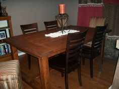 Make a Dining Room Table by Thanksgiving