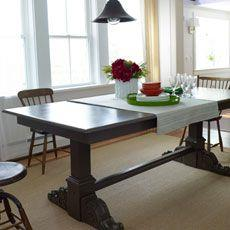 dining room table how to make a trestle table - Build Dining Room Table