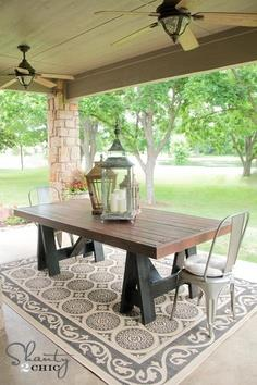SAWHORSE OUTDOOR TABLE