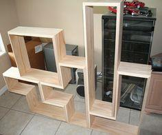 Build a Tetris DVD shelf