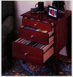 How to Build a Tape and CD Storage Table