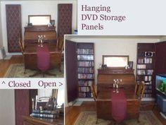 Hanging DVD Storage Panels Tutorial