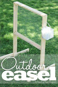 Outdoor Easel Plans