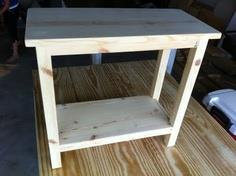 DIY Simple End Table for Small Spaces
