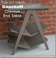 Plow and Hearth Knockoff Chevron End Table