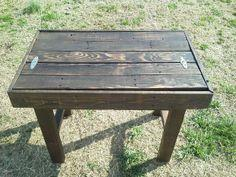 Reclaimed Pallet Side Table with Drawer Space