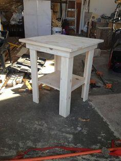 Recycled Pallet End Table Plans