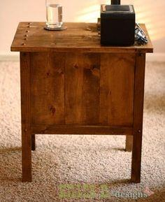 TIDY UP END TABLE Plans