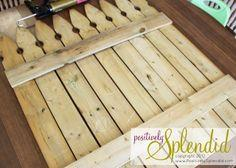 Chalkboard Picket Fence Pallet