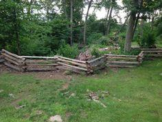 Colonial Style Split Rail Fence