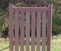 How to make a wooden gate