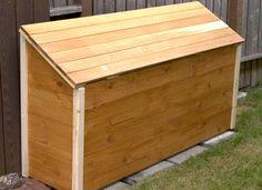 outdoor storage chest plans