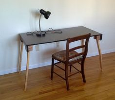 desk with folding legs - tutorial