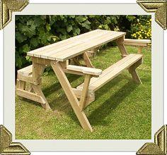 folding picnic table to bench seat