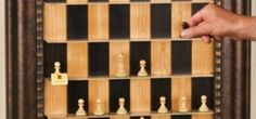 Vertical Wall-Mounted Chessboard