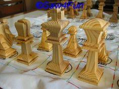 Chess Players Scroll Saw Pattern