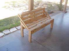 Easy Pallet Bench