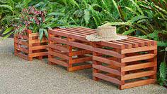 Crib-Style Bench and Planter
