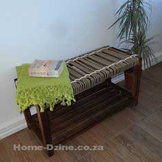Make woven jute rope bench