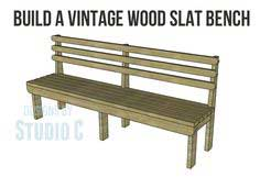 Build a Vintage Wood Slat Bench