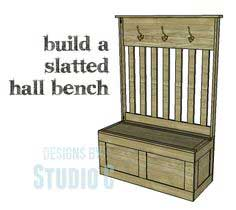 Plans to Build a Slatted Hall Bench