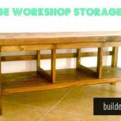 Vintage Workshop Storage Bench