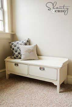 Pottery Barn vintage style bench