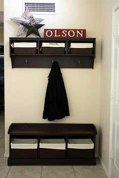 Entryway Bench and Storage
