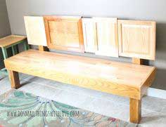 DIY Cabinet Door Bench
