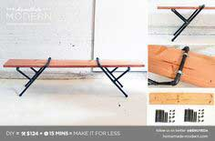 Modern DIY Pipe Bench Postcard