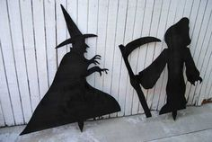 Build Halloween Silhouettes