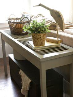 Build a Shutter Console Table