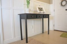 Entry Table# 2 (Black Distressed) & Tutorial
