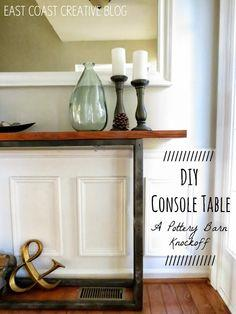 DIY Console Hall Table {A Pottery Barn Knock Off} – tutorial