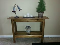CHEAP & SIMPLE ENTRYWAY TABLE